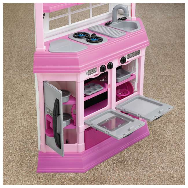 APT-11950 American Plastic Toys Kids Pink First Very Own Custom Kitchen Role Play Toy Set  2