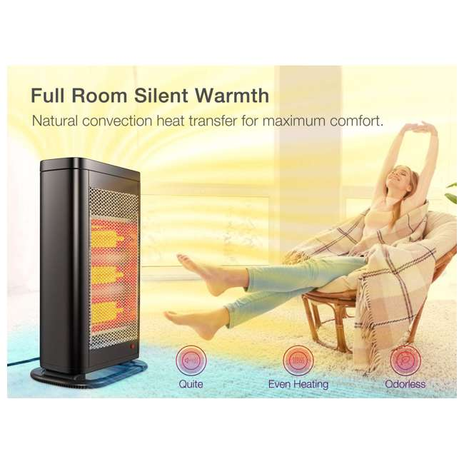 HQ28-15M Geek Heat HQ28-15M Infrared & Convection Electric Portable Space Heater (2 Pack) 5