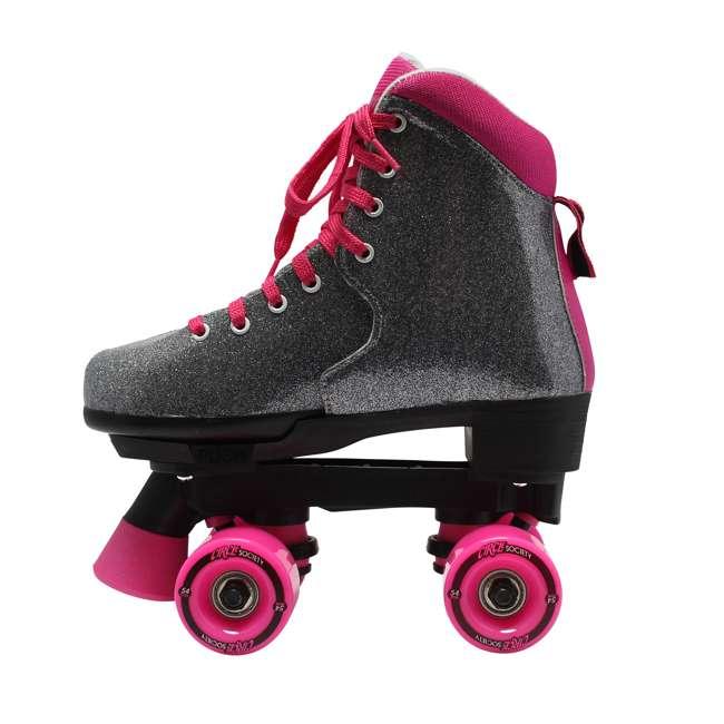 168222 Circle Society Bling Sizzling Pink Kids Skates, Sizes 3 to 7 3