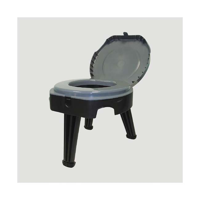 9824-21W Reliance Products Fold-to-Go Collapsible Portable Lightweight Toilet, Black