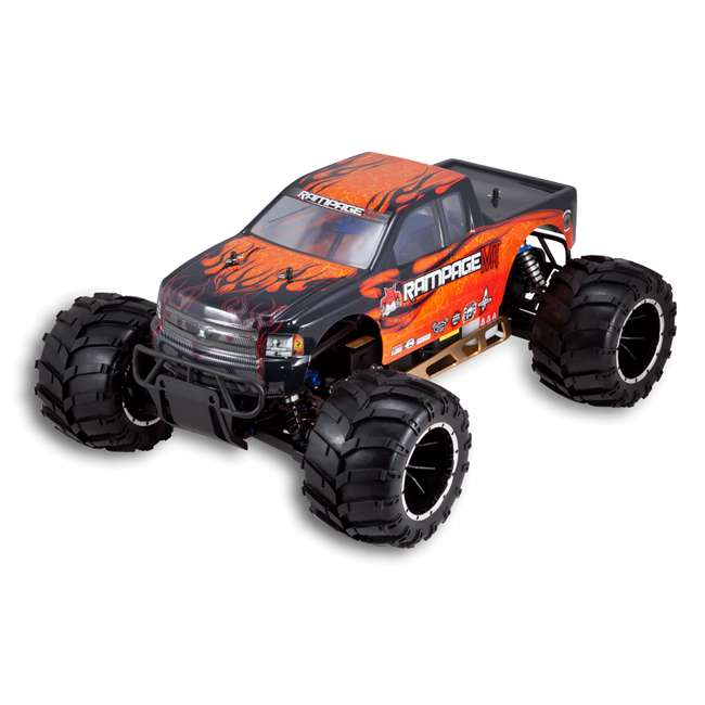 RAMPAGE-MT-V3-OF-U-C Redcat Racing Rampage MT V3 Gas Truck RC Truck, Orange/ Flame (For Parts) 3