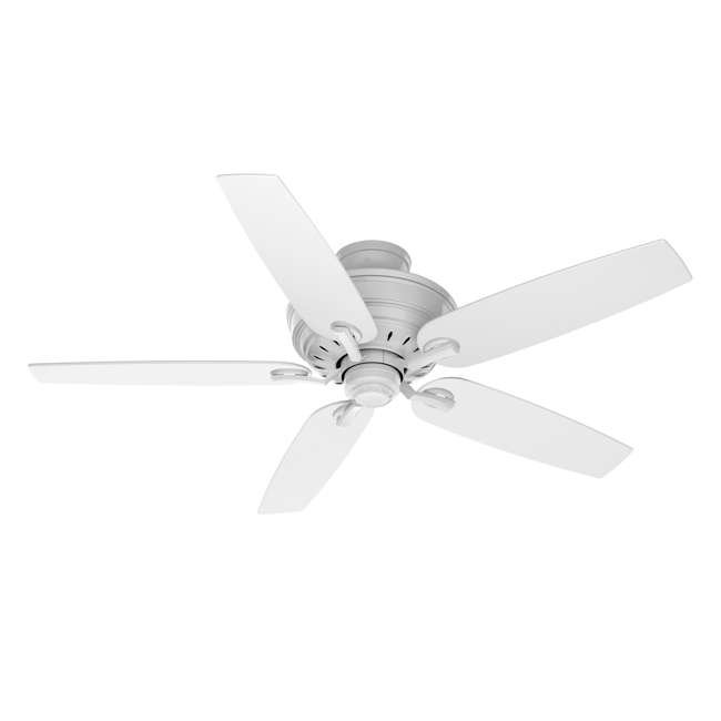 54157 Casablanca Adelaide 54 Inch Indoor Metal Ceiling Fan with Pull Chain, Snow White