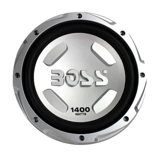 CX122 + AR1500M + AKS8 + QSMBASS12 Boss 12-Inch 1400W Subwoofers + 1500W Mono Amplifier + Amp Kit + Subwoofer Box 1