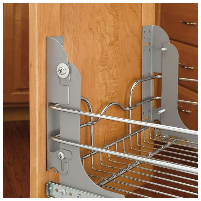 3 x 5WB2-1822-CR Rev-A-Shelf 18 Inch Pull Out 2 Tier Wire Baskets, Plated Chrome (3 Pack) 5