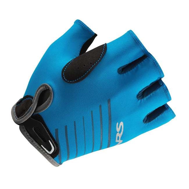 NRS_25005_05_100 NRS Men's Half-Finger Marine Blue Paddling & Rowing Boater's Gloves, XS (2 Pack) 4