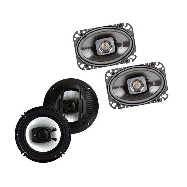 DB462 + R63 Polk Audio 150W Speakers w/ Boss 300W Car Audio Speakers