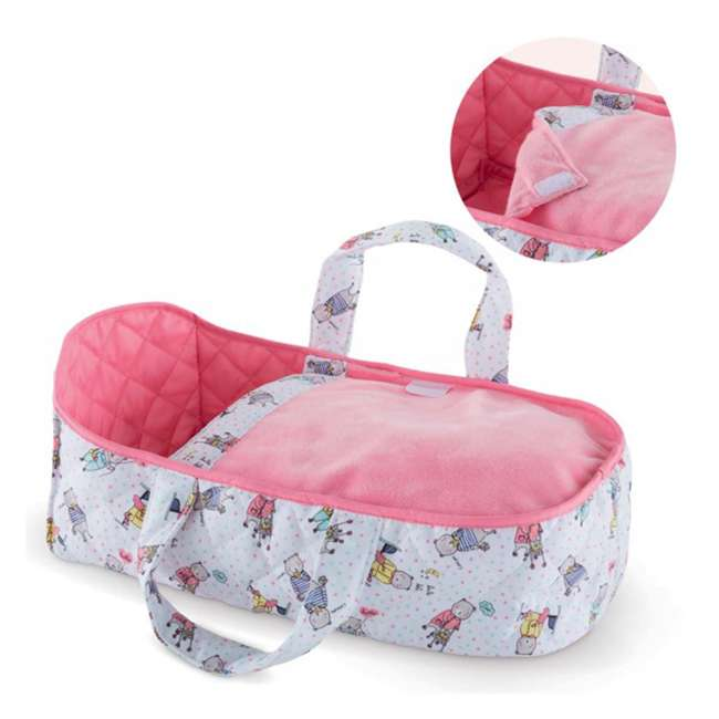 FRN89 Corolle Mon Premier Poupon Carry Travel Bed Accessory for 12 Inch Baby Dolls