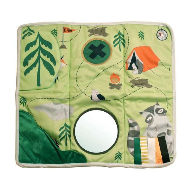215530 Manhattan Toy Company Camp Acorn Sensory Baby Toy Activity Play Mat w/ Mirror