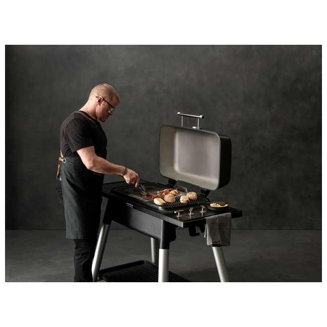 HBG3GUS Everdure HBG3GUS 42.65 Inch 3 Burner Furnace Freestanding Propane Grill, Gray 11