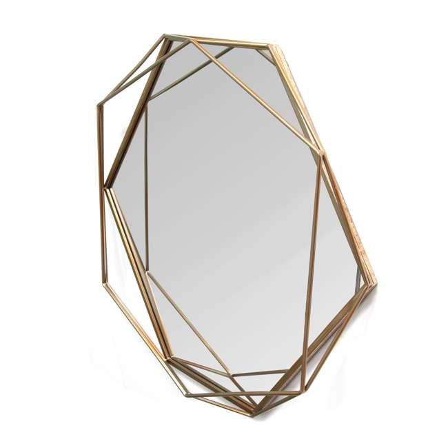 S11541 Stratton Home Decor S11541 Chloe Hand Painted Gold Metal Wall Mirror Art Decor 1