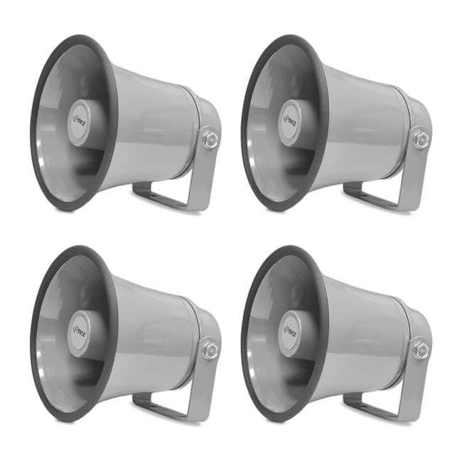 4 x PHSP6K PyleHome 6.3-Inch 25-Watt Indoor & Outdoor PA Horn Speaker (4 Pack)