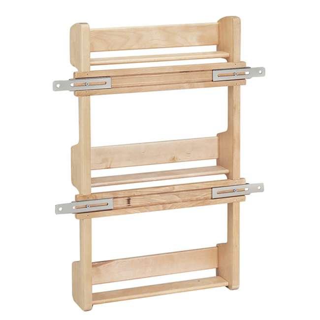 4SR-15 Rev-A-Shelf 4SR-15 Small Cabinet Door Mount Wood 3 Shelf Storage Spice Rack