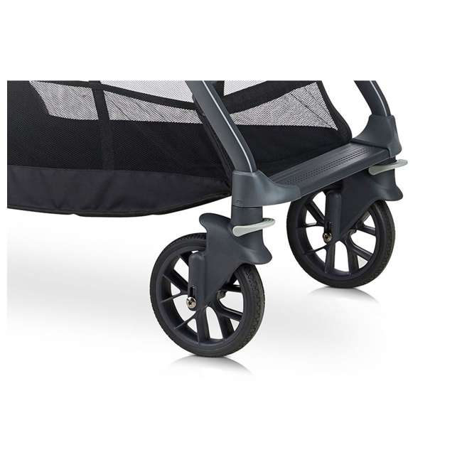 8207 + 9107 Joovy Caboose S Stroller with Canopy, Black Melange + Caboose Add On Rear Seat 5