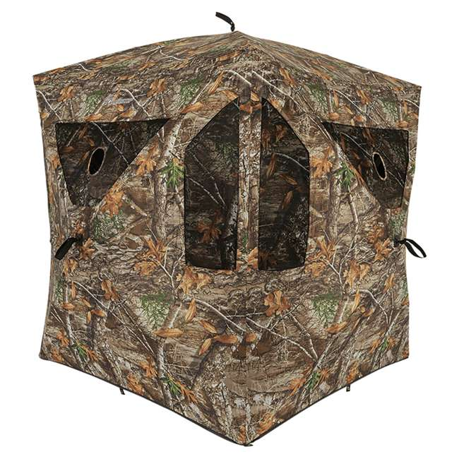 AMEBL3013 Ameristep AMEBL3013 3 Person Brickhouse Ground Hunting Blind, Mossy Oak Camo