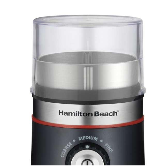 45300 + 80393-HB Hamilton Beach Coffee Maker & Custom Electric Bean Blade Grinder 8