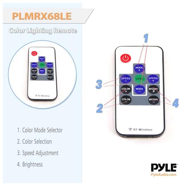 PLMRX68LEB Pyle PLMRX68LEB 6.5 Inch 250W Marine Boat Led Light Black Speakers (Pair) 5