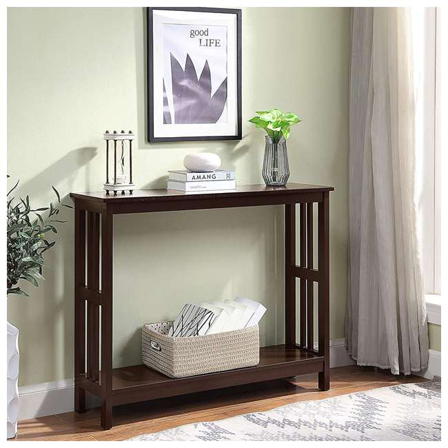 S20-249 Convenience Concepts Mission Wooden Painted Console Table, Espresso 4