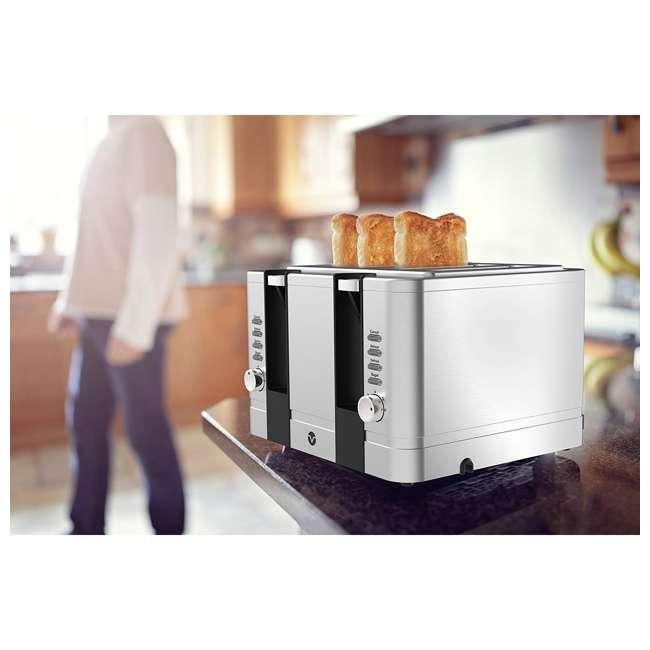 VRM010108N Vremi VRM010108N Retro Stainless Steel Countertop Wide Slot 4 Slice Toaster 3