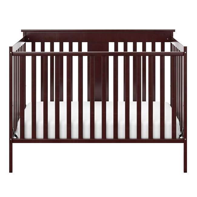 04510-359 + 06711-300 Storkcraft Mission Ridge 4-in-1 Crib in Espresso w/ Mattress 4