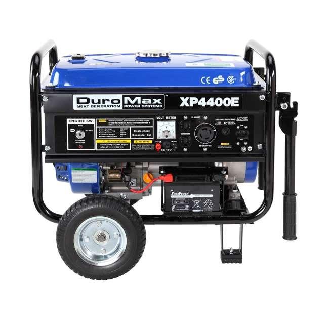XP4400E + XPSGC DuroMax 4400 Watt RV Grade Gas Generator & Generator Cover, Black 1
