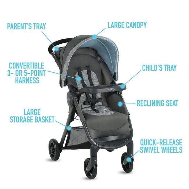 2082773 Graco FastAction SE Stroller w/ SnugRide 30 LX Infant Car Seat Travel System 3