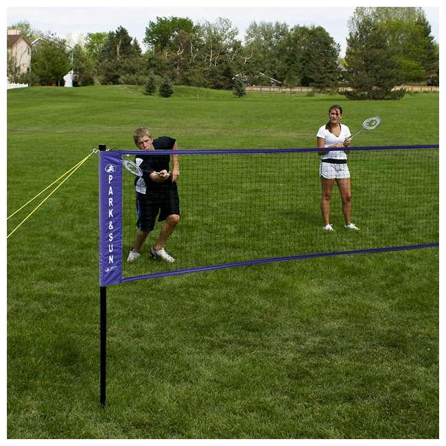 BM-PS/Alum/BL Park & Sun Sports Complete Outdoor Badminton Set with Carry Case, Blue 4