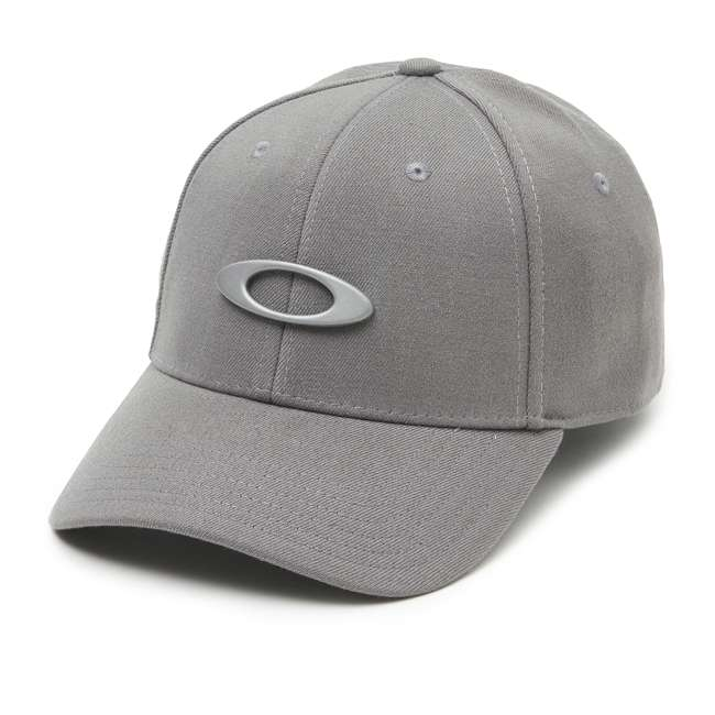 911545-23Q-SM Oakley Tincan Men's Small/Medium Fitted Hat, Grigio Scuro