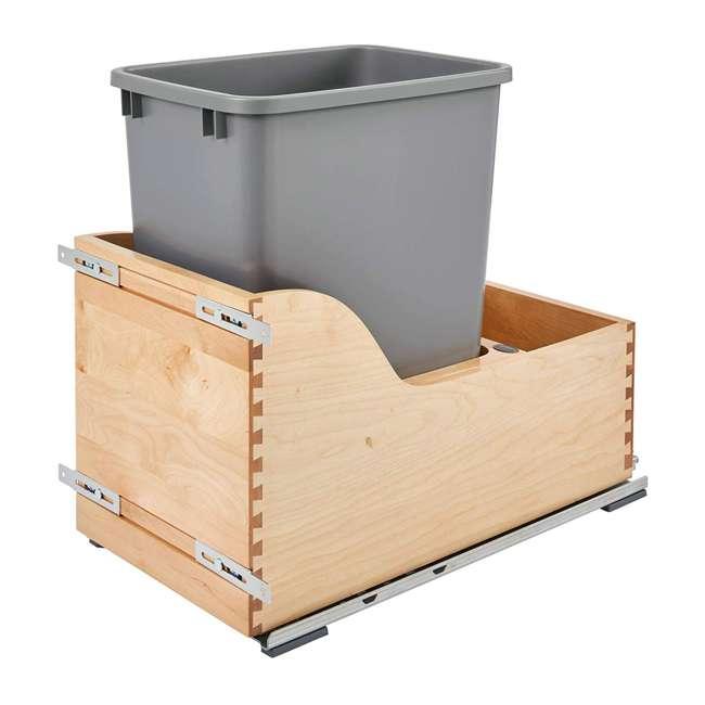 4WCSC-1535DM-12 Rev-A-Shelf 4WCSC-1535DM-12 35 QT Undermount Pull-out Waste Container, Maple