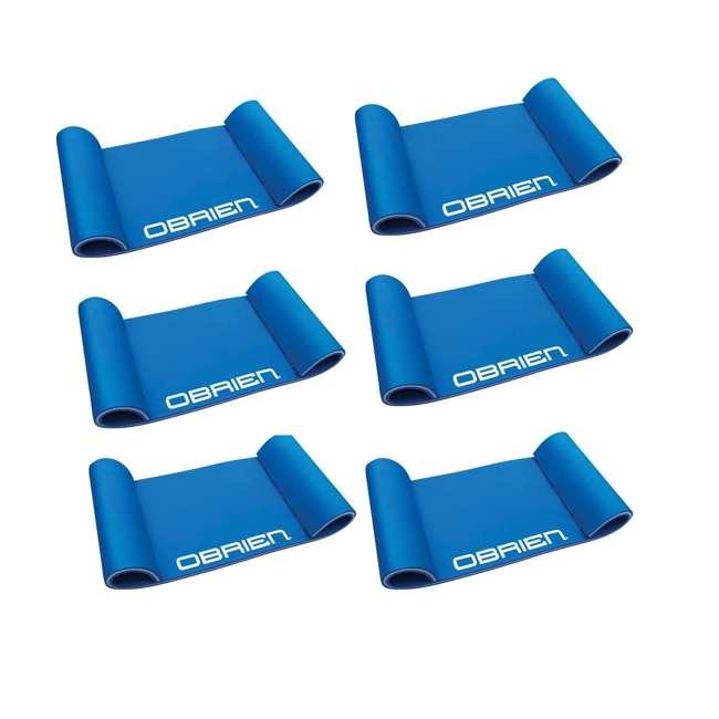 6 x 2151571-MW OBrien 78 x 24-Inch Foam Hammock Pool Float, Blue (6 Pack)