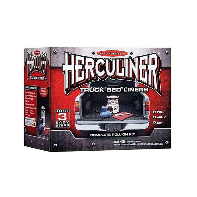 HCL0G8 Herculiner 6-Foot Roll-On Truck Bed Liner Kit, Grey
