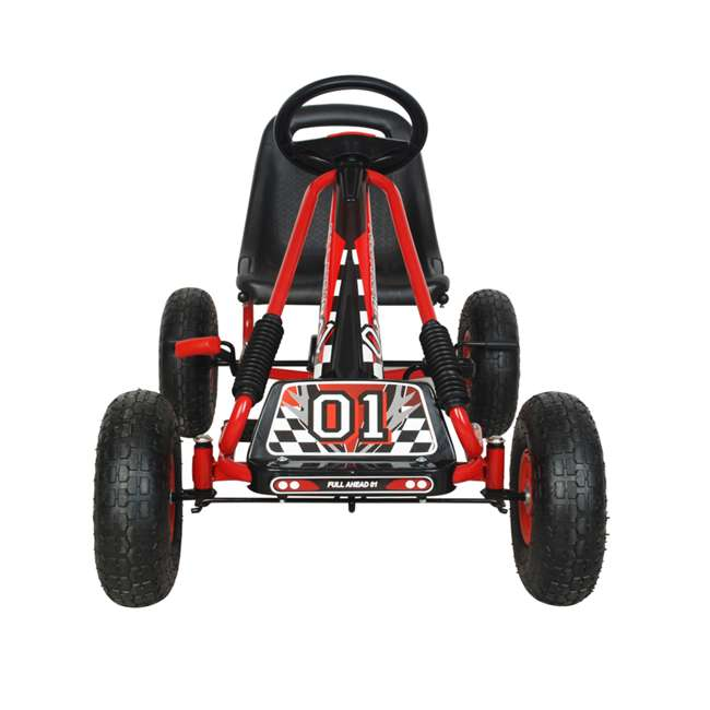 1 PGCR NextGen Pedal Go Cart for Children with Adjustable Seat and Pneumatic Tires, Red 2