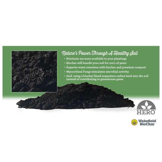 WFBCSC-BAG-40 + WFHERO-CMP-40 Wakefield 1 Cu Ft Biochar Organic Garden Soil Conditioner & 1 Cu Ft Compost 10