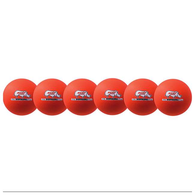 RXD6NOSET Champion Sports Rhino Skin Foam Core Low Bounce 6.3 Inch Dodgeball, Set of 6