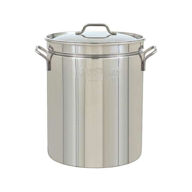 1044 Bayou Classic 44 Quart Stainless Steel Boil Fry Steam Cook Soup Stockpot w/ Lid