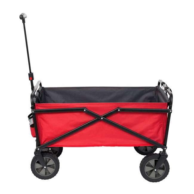SUW-300-RED-GRAY-U-A Seina Collapsible Steel Frame Utility Wagon Outdoor Cart, Red (Open Box)(2 Pack) 6
