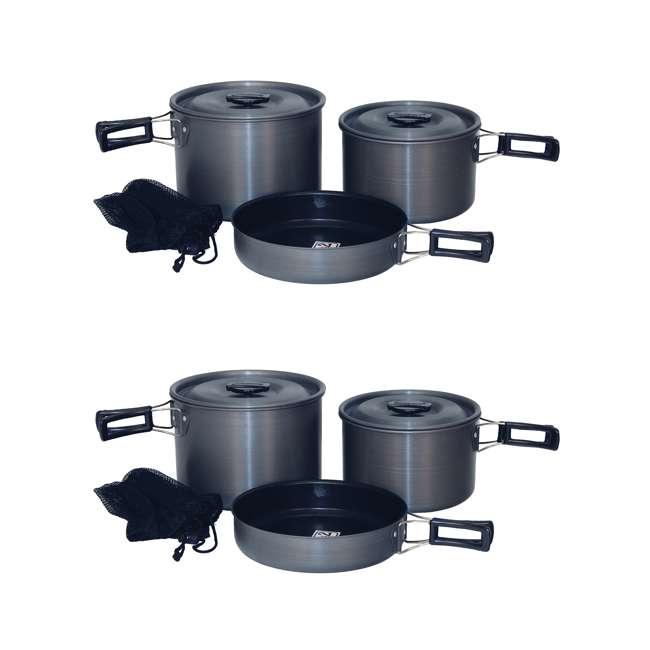TXSPT13414 Texsport Trailblazer Black Ice Hard Anodized Cookware Set (2 Pack)