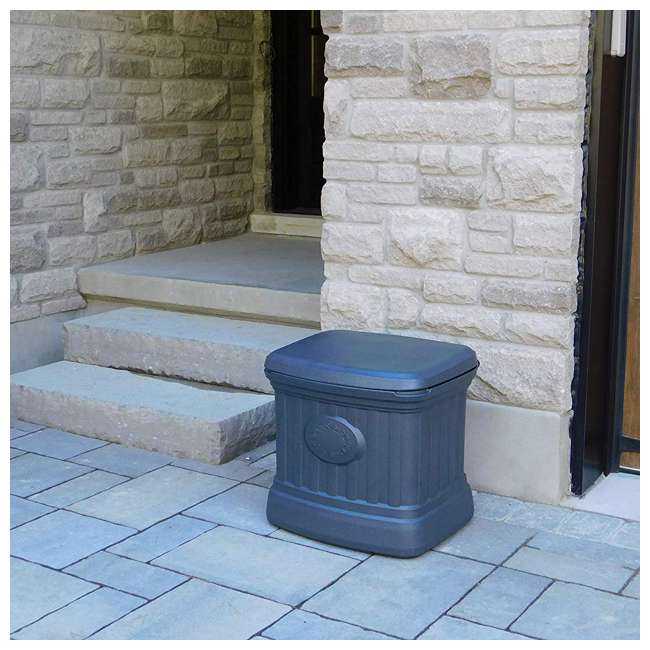 SB120-GRY-S FCMP Outdoor SB120-GRY-S 20 Gal. Sand, Salt, Ice Melt Outdoor Storage Bin, Gray 2
