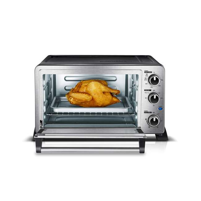 MC25CEY-SS Toshiba MC25CEY-SS 6 Slice Small Convection Pizza Toaster Oven, Stainless Steel 3