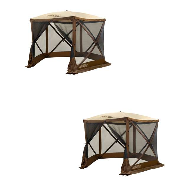 CLAM-VT-12875 Clam QuickSet Venture Portable Outdoor Gazebo Canopy (2 Pack)