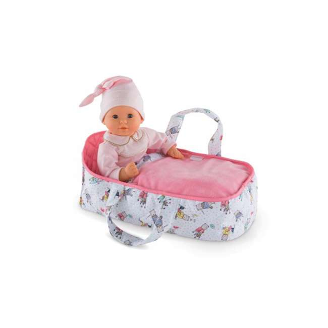 FRN89 Corolle Mon Premier Poupon Carry Travel Bed Accessory for 12 Inch Baby Dolls 1