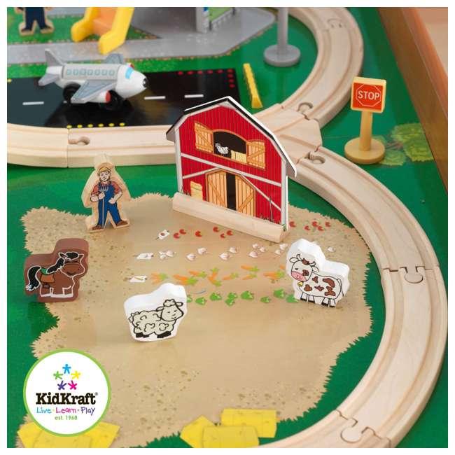 KidKraft Ride Around Town Wood Train Table & Toy Set : 17836