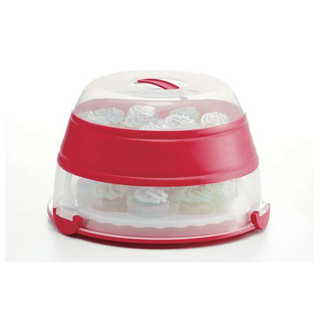 BCC-1 Progressive International Prepworks Collapsible Cupcake Carrier, Red 1