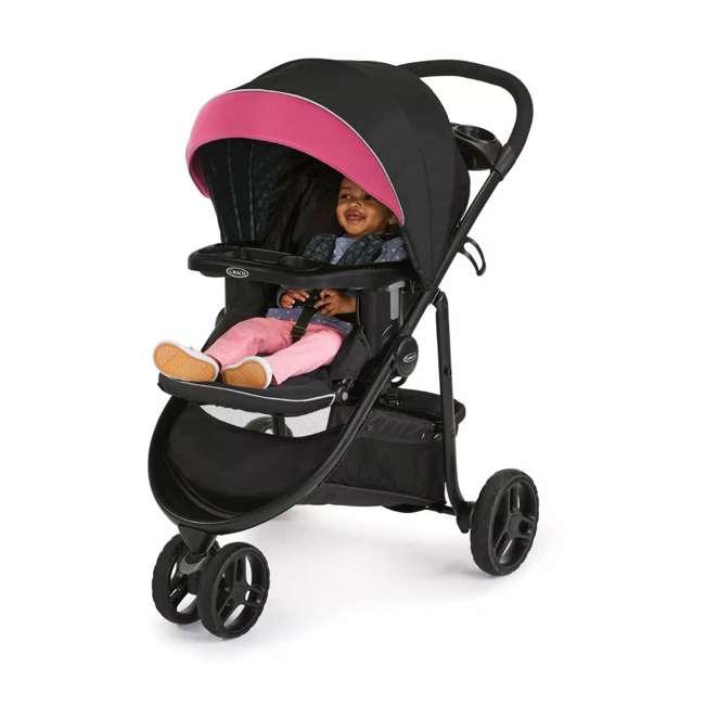 2081084 Graco Modes 3 Lite DLX Baby Stroller & Infant Car Seat Travel System, Arbis Pink 4