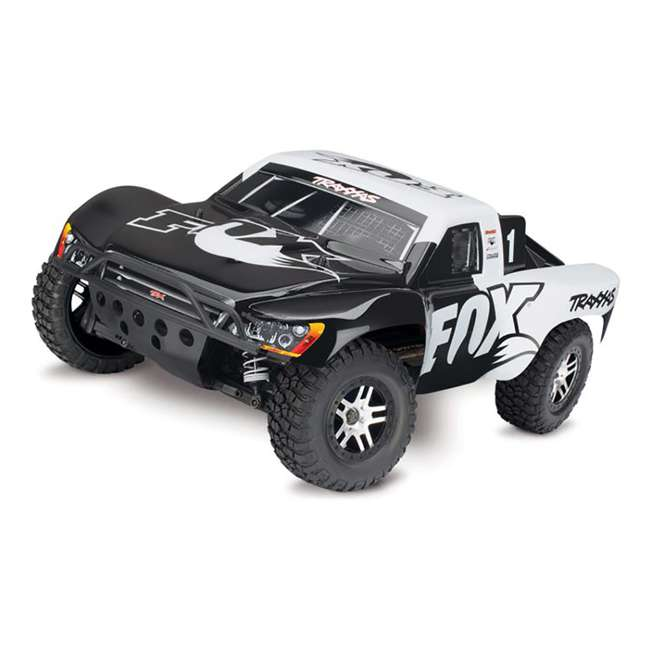 68086-4-FOX Traxxas Slash 4x4 Fox 1/10 Scale Brushless Short Course 4WD Truck with TQi Radio