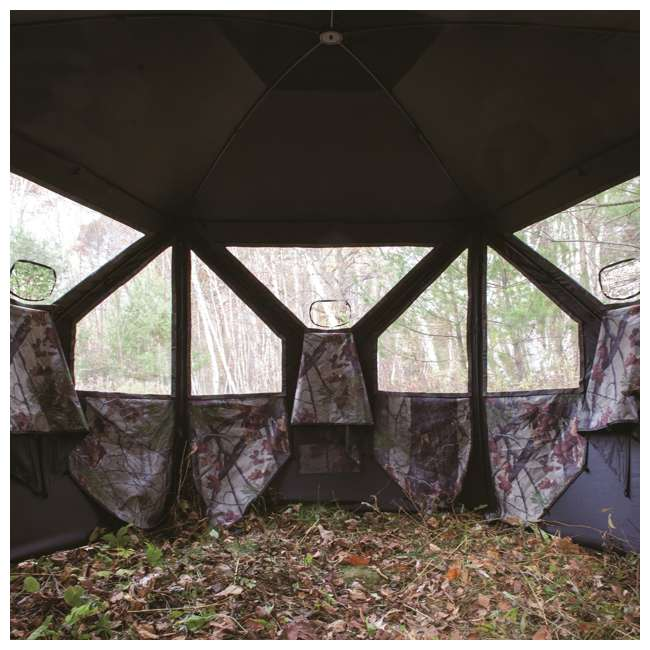 BARR-PT550BB Barronett Blinds Pentagon Pop Up Large Ground Hunting Hub Blind in Blades Camo 3