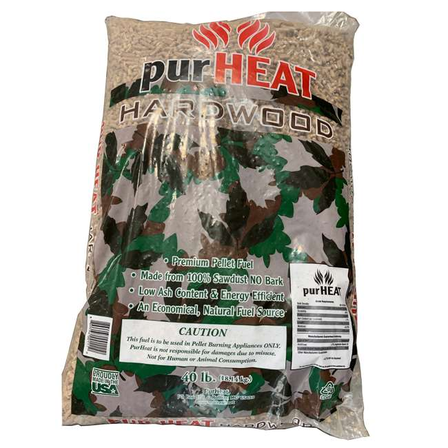 HCHP40 US Stove HCHP40 40 Pound Bag Natural Wood Home Heating Pellets for Pellet Stove
