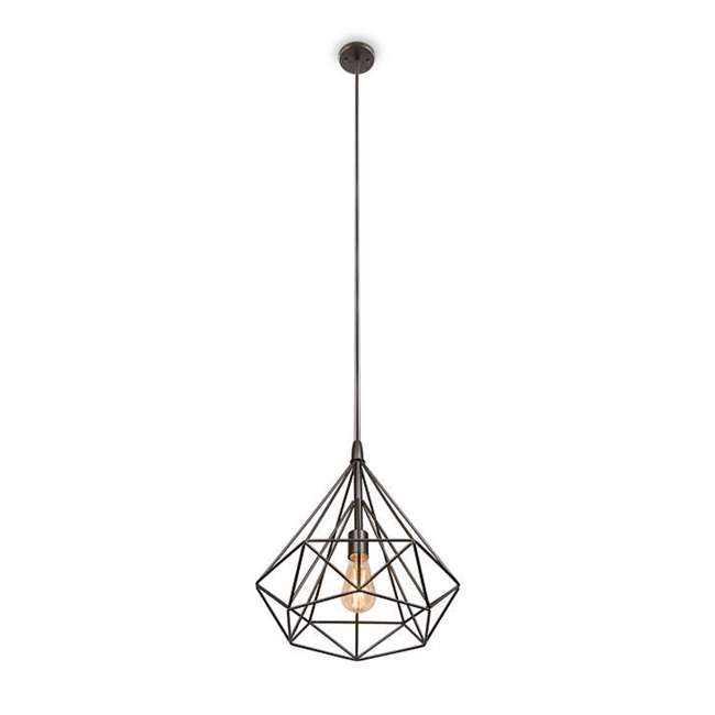 PLC-4110702U9 Philips 4110702U9 Gabbia 13-Inch Pendant Light, Oiled Bronze 1