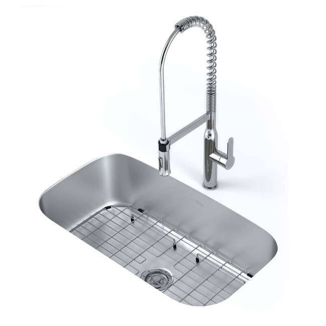 KBU14E-OB Kraus Outlast 31.5-Inch Stainless Steel Undermount Single Bowl Sink (Open Box) 3