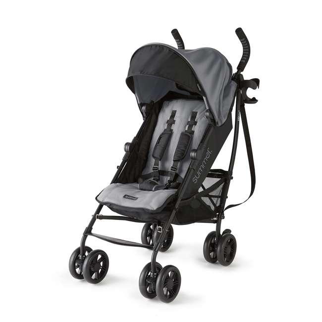 32753 Summer Infant 3DlitePlus Convenience One-Hand Adjustable Stroller Matte Gray