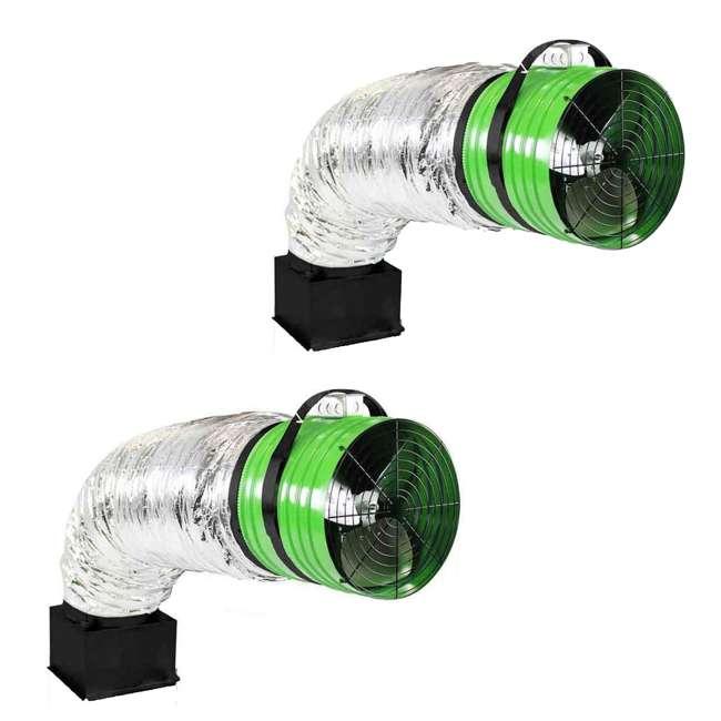 QC-ES-5400 QuietCool QC ES-5400 CFM Energy Saver Whole House Fan (2 Pack)